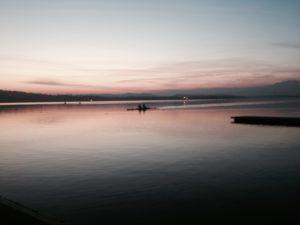 Petter og Patrick i solnedgang i Varese
